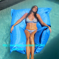 giant bean bags - THE BIG BAG GIANT sky blue SWIMMING POOL BEAN BAG SHELL FLOAT TOY entertainment ENJOY water sports