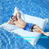 FABRIC giant bean bags - THE BIG BAG GIANT white SWIMMING POOL BEAN BAG SHELL FLOAT TOY entertainment MAN ENJOY water sports