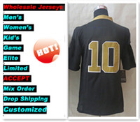 Wholesale New Season Football jersey black Football Jerseys Size Stitched Mix Order Football JERSEY