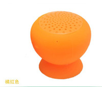 Wholesale New arrival Wireless Bluetooth Mini Speaker Mushroom Waterproof Silicon Suction Cup Handfree Holder for Iphone samsung ipad with retail box