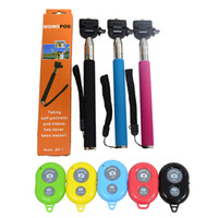Wholesale Camera Tripod Self Portrait Monopod with Phone Holder Plus Bluetooth Shutter iPhone Samsung HTC Digital Camera