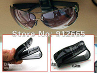 black,silver,blue,red Zhejiang China (Mainland) plastic Wholesale - 5pcs lot car sunglasses clip auto glasses holder business card rack four colors free shipping