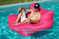 bean bag float - HOT PINK Floating bean bag chair water floats