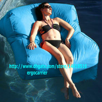 Wholesale sky blue SUN LOUNGER BED OUTDOOR LOUNGER BEAN BAG BEANBAG CHAIR Stylish Waterproof blue float on water relax on land in function