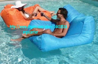 Wholesale sky blue water floating bean bag chair funny chairs