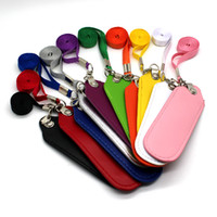 PU Pouch Leather case Lanyard Carrying Pouch Pocket Neck Sli...