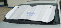 PVC auto shade - 1pcs Foldable Car Auto Front Rear Windshield Sunshade Sun Shade C0053