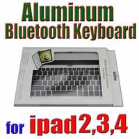 Keyboard Case apple keyboard dock - Hot Sell Ultra thin wireless Aluminum Bluetooth Keyboard Dock for iPad ipad ipad anna waitingyou