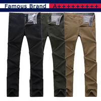 Wholesale TOMMY1301 Famous Brand New Summer Spring Men s Pants Slim Straight Pants Men Classic Business Fashion Pant Casual Khaki