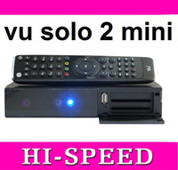 Receivers DVB-S  1pcs mini VU SOLO 2 HD DIGITAL DVB-S2 STB Double DVB-S2 tuners 2 tuner double smart card reader mini VU SOLO2 free shipping