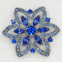 Other b brooch - C763 B Sapphire Marquise Crystal Rhinestone Bridesmaid Wedding Party Prom Flower Pin Brooch Clothing ornaments Brooches