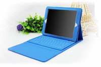 Hot Sale !!! Leather wireless Bluetooth Keyboard case for iP...