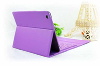 DHL free !!! Leather wireless Bluetooth Keyboard case for iP...