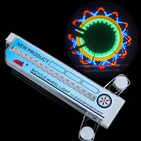 al por mayor colorful bicycle-Colorido luces de la bicicleta de la bici ciclo de la rueda LED habló la luz 32 de 32 H8084UV patrón a prueba de agua
