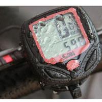 Wholesale New Digital Functions Waterproof LED Sunding SD B Wired Bike Bicycle Computer Cycle Odometer Speedometer H10420
