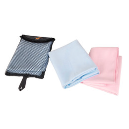 Wholesale 2016 New Outdoor Sports Polyester Quick drying Towel for Camping Climbing Portable Light Weight Quick Dry Pink Blue H10810