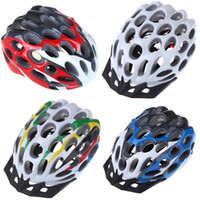 bike racing bicycle - New Vents Men s Road MTB Race Hero Bike Bicycle Cycling Safety Helmet with Visor g Adult Unisex White Blue Red Colorful H10176