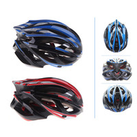 PE cycling helmet - 21 Vents Ultralight Adult Sports Cycling Helmet with LED Taillight Visor Mountain MTB Bike Bicycle Accessories Blue Red H10765