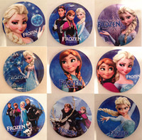 Multicolor PVC badge 2014 Frozen Cartoon Pin Badge 4.5cm Anna Elsa Princess Olaf Costume Cosplay Boys Girls Toy Fashion Badges HOT SALE