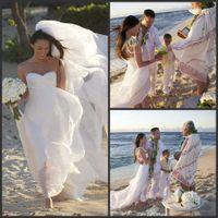 A-Line Reference Images Sweetheart Vestidos de Noiva Natural Waistline Free shipping!Megan Fox sweetheart sleeveless beach wedding dress with long train