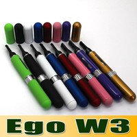 Electronic Cigarette battery samples - Samples personal use Colors New Design Pen Style Pill Style Ego e Cigarette Ego W3 with mAh Battery ml clearmizer atomizer churchill