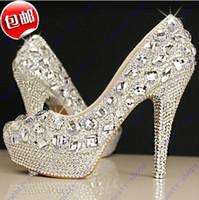 High Heel Suede Leather  Hot Sale prom heels wedding shoes women high heels crystal high heel shoes woman rhinestone platform pumps