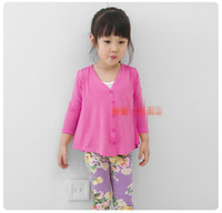 fashion autumn sweater - 2014 autumn girl top kids girl s fashion unregular shape design cardigan thin v neck sweaters