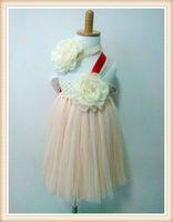 Wholesale 2014 New Hot baby girls tutu gown dress layers handmade tulle dress elastic crochet top girl dance dress Soft tulle princess bow dress