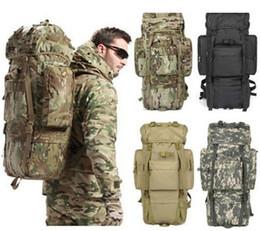 65L Tactical Combat Outdoor Travel Rucksacks Camping Hiking Bag 600D Nylon Day Backpack