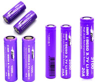 Wholesale Efest A IMR purple battery A flat top li ion battery batteries