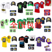 Wholesale cotton RKOA amp WWE John Cena Five piece suit short sleeved short sleeved t shirt cap wrist