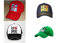 Wholesale A amp NN John Cena purple red black green blue baseball cap cotton duck tongue