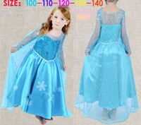 TuTu Summer tutu Hot !!! 2014 Frozen Elsa lace Dress Movie Cosplay Dress Summer Girl Dress Frozen Princess Elsa Costume for Children 3-7Y