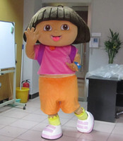 Wholesale Adult D Dora Mascot Costume Fancy Dress Suit Halloween Outfit