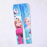 Leggings & Tights Girl Spring / Autumn Wholesale new Frozen Princess Elsa anna Children's girls babys cotton pants leggings & tights LY-410