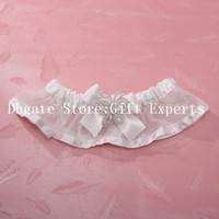 Wholesale White Lace Flower Bowknot Butterfly Style Garters Individuation Bridal Garter for Wedding Retails