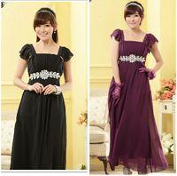 Wholesale Women s Dresses Fashion Dress Plus Size Evening Dress Maxi Elegant Chiffon Diamond Beaded Party Dress XL XXL XXXL Black Purple Champagne
