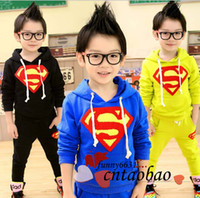 Boy brand clothes kids - brand new fashion spring colors childrens outfits boy and girls sweat suit baby clothing kids sets with cap korea style drop shipping