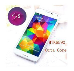 Wholesale Real S5 waterproof Phone G900 I9600 Phone MTK6592 Octa Core Android Kitkat Inch IPS Screen G RAM G ROM G GPS fingerprint DHL