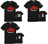 Men basketball team clothing - new arrival USA Basketball Team clothes sports T shirt american team basketball short sleeve t shirts Color cotton
