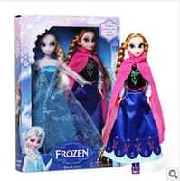 Cheap Hot Sale Retail baby frozen princesses doll 2014 newest cute Anna Elsa 11.5 inch baby doll action figures frozen dolls toys 2 pcs set