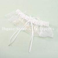 Wholesale White LaceWedding Garters with Elegant Bowknot Individuation Bridal Garter for Wedding Retails