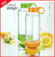 Wholesale 2pc Citrus Zinger Infuser Citrus Bottle Lemon Cup Space Cup sports bottle Portable Healthy Gift kettle large ml