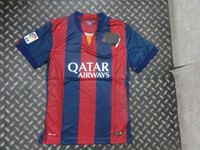 Wholesale 2014 Barcelona Home Players Jersey New Style Club Soccer Jerseys AAA Soccer Wears Men s Sports Shirts Discount Soccer Uniforms Kits