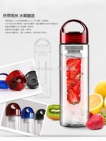Wholesale Tritan outdoor plastic cup water bottle outside sport cqua lemon emperorship fruit cup