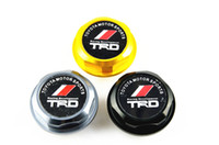 Wholesale Oil Cap Fuel Billet Aluminum TRD logo Engine Oil Filler Cap Fuel Fill Tank Cover Black Grey golden fit most Toyota model