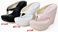 Women shoes big size - Platform Wedge Shoes for Women Sandal Thong Flip Flop High Heels shoes Beach platforms high heel sandals amp wedges big size shoes