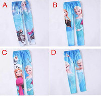 Wholesale hot selling New Frozen girl Elsa Anna baby girls legging children kids leggings pants trousers designs