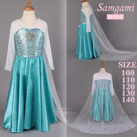 Wholesale New free selling Summer Frozen Baby Girls Elsa amp Anna For Kids Princess Dress Sequined Cosplay Costume Children dresses