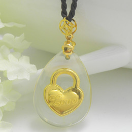 Wholesale Crystal K gold inside pendant charms heart shaped lock Sweat heart Business gifts festival gift staff welfare tourism souvenir